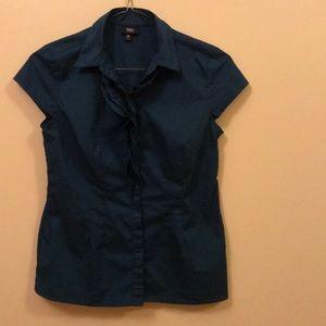 Mossimo turquoise work blouse, size medium